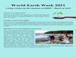 World Earth Week